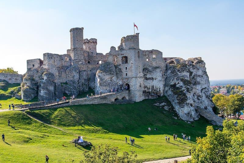 Ruinas del castillo Ogrodzieniec Polonia fotos de archivo
