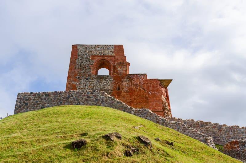 Ruinas del castillo superior Vilna, Vilna, Lituania foto de archivo