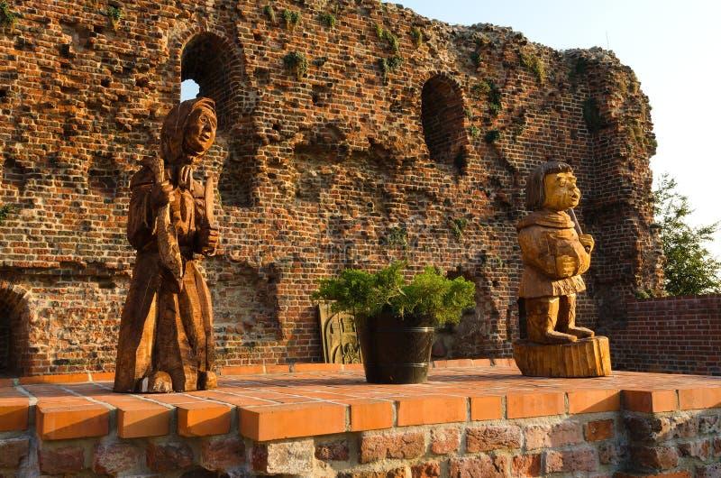 Ruinas del castillo teutónico en Torun, Polonia imágenes de archivo libres de regalías