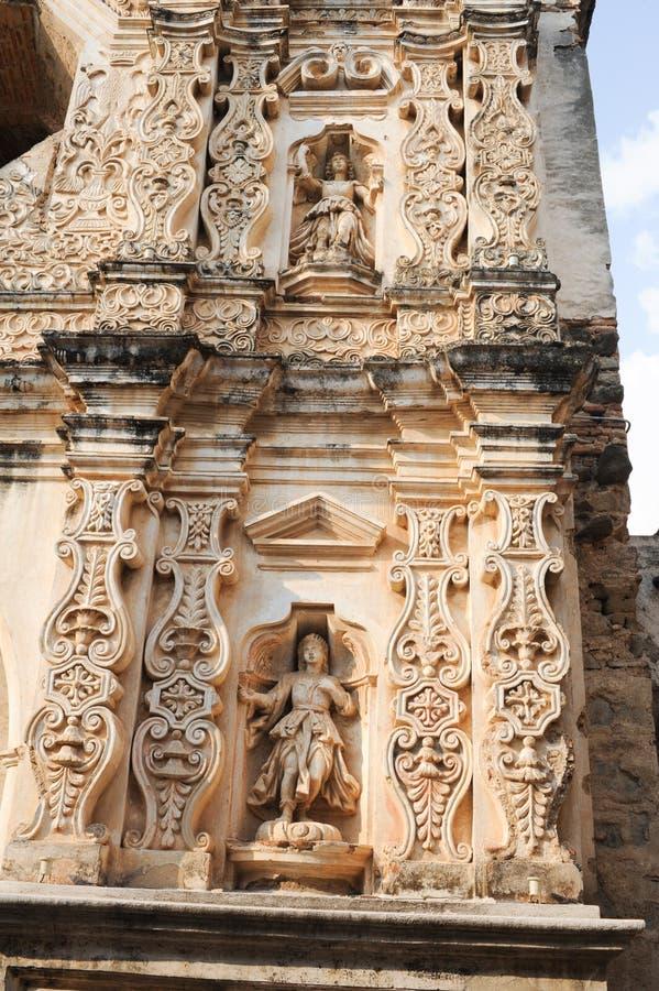 Ruinas del convento de Santa Clara en Antigua imagenes de archivo