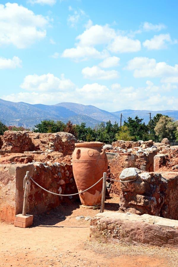 Ruinas del edificio de Minoan en Malia imagen de archivo libre de regalías