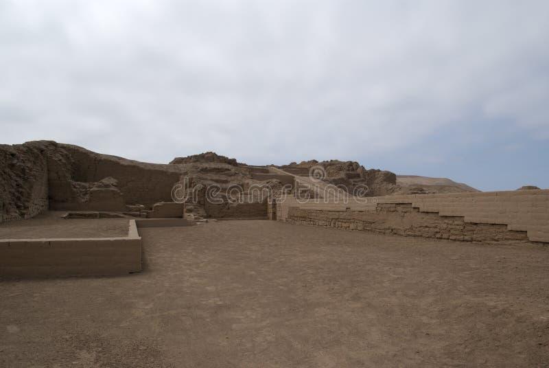 Ruinas del inca en Pachacamac fotos de archivo