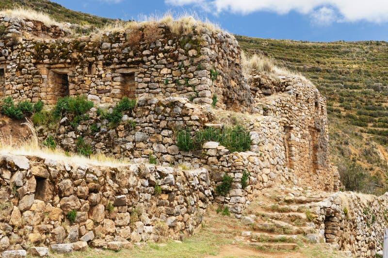 Ruinas del inca, Isla del Sol, lago Titicaca, Bolivia imagenes de archivo