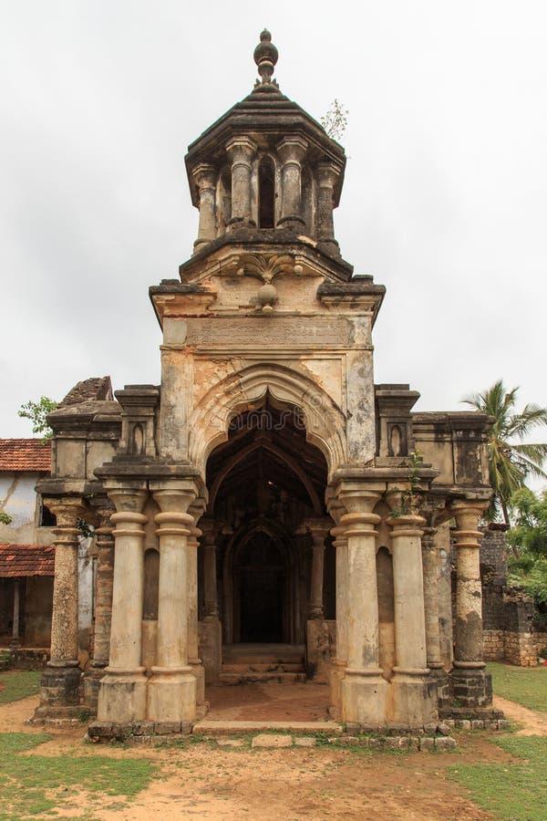 Ruinas del Mantri Manai o Manthiri Manai - Jaffna - Sri Lanka foto de archivo libre de regalías