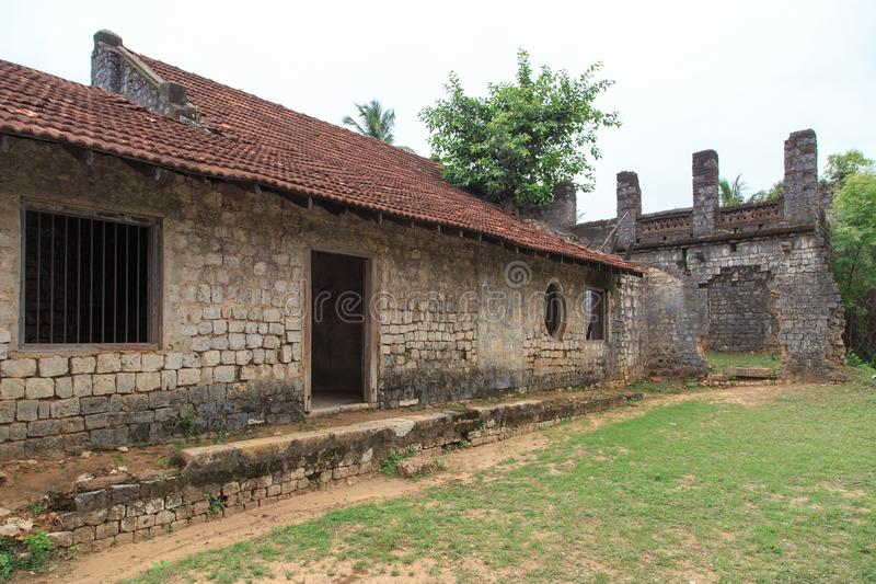 Ruinas del Mantri Manai o Manthiri Manai - Jaffna - Sri Lanka imagen de archivo