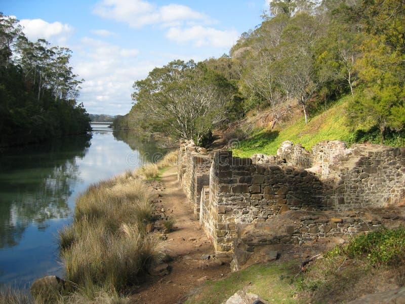 Ruinas del molino harinero imagen de archivo libre de regalías