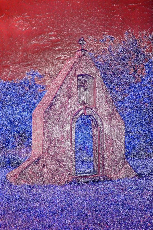 Ruinas del monasterio barroco imagen de archivo libre de regalías