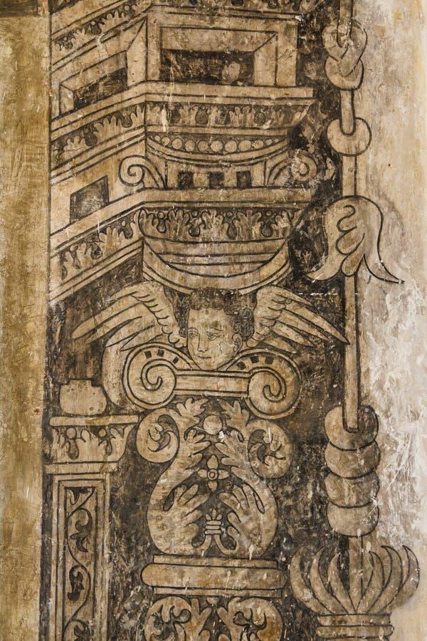 Ruinas del monasterio de Cuilapan de Guerrero imagen de archivo