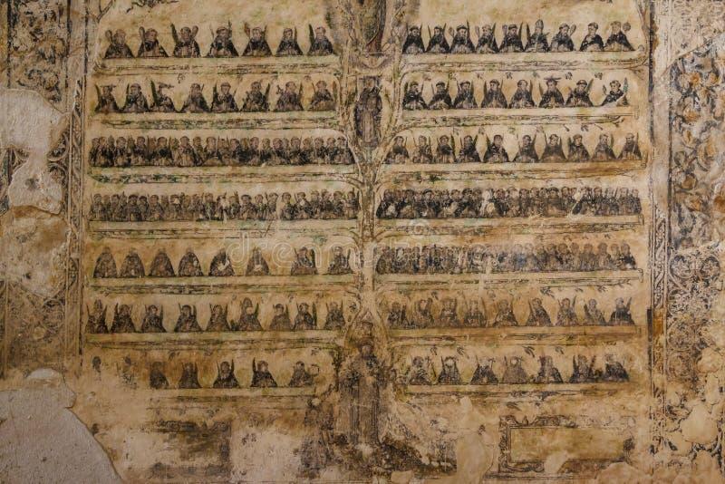 Ruinas del monasterio de Cuilapan de Guerrero fotografía de archivo
