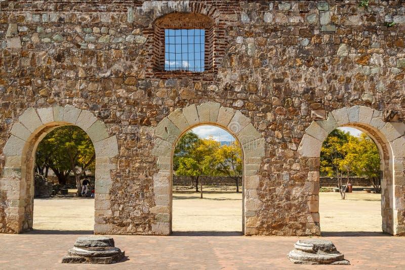 Ruinas del monasterio de Cuilapan de Guerrero, Oaxaca fotos de archivo libres de regalías
