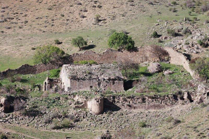 Ruinas del monasterio de Shatinavank imagen de archivo