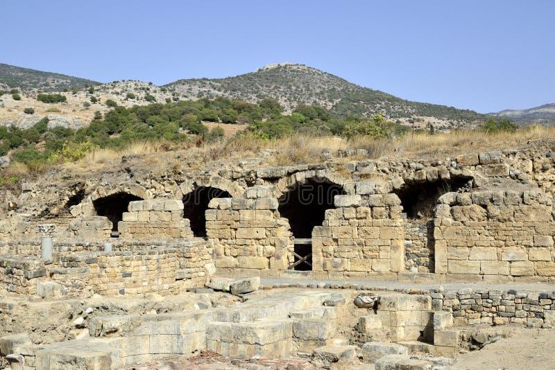 Ruinas del palacio de Agrippa, Israel imagen de archivo