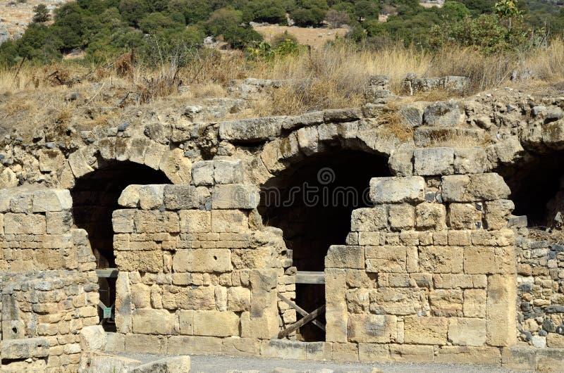 Ruinas del palacio de Agrippa, Israel imágenes de archivo libres de regalías