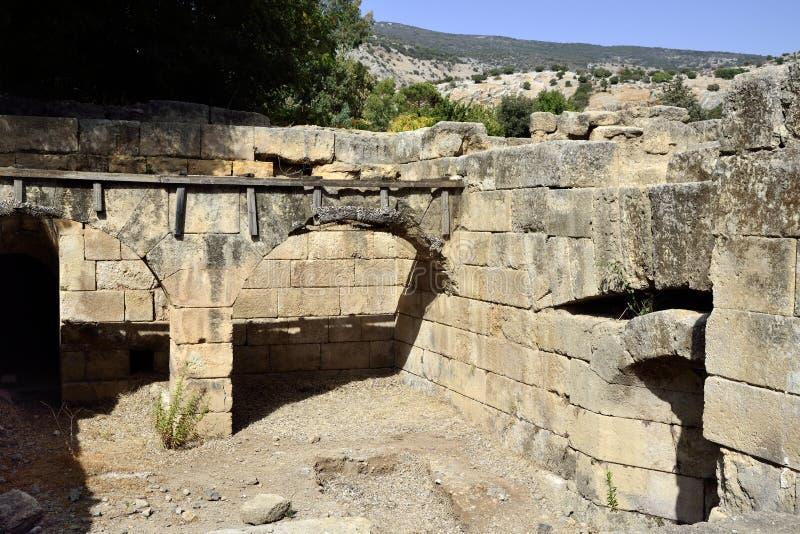 Ruinas del palacio de Agrippa, Israel fotografía de archivo