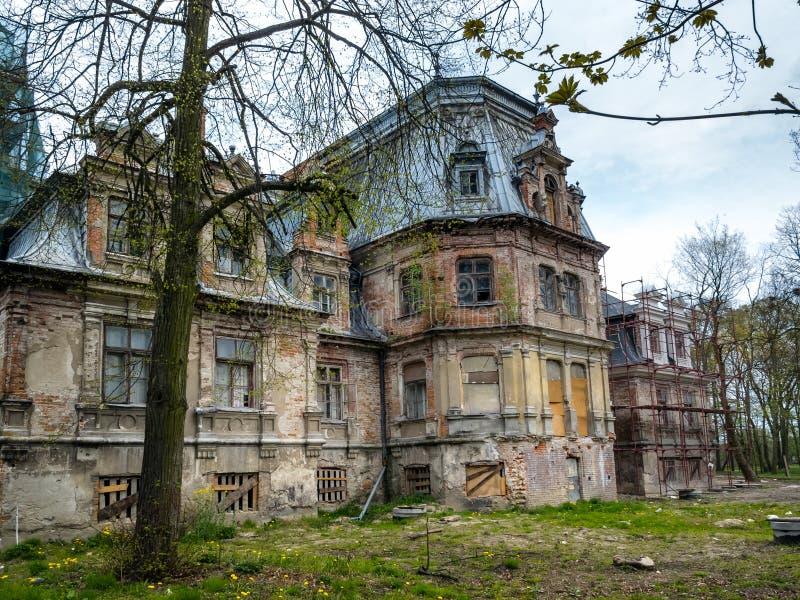 Ruinas del palacio de Sobanski imagen de archivo libre de regalías