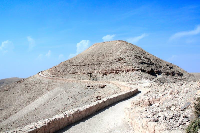 Ruinas del palacio fortificado Machaeros, Jordania de rey Herod imágenes de archivo libres de regalías