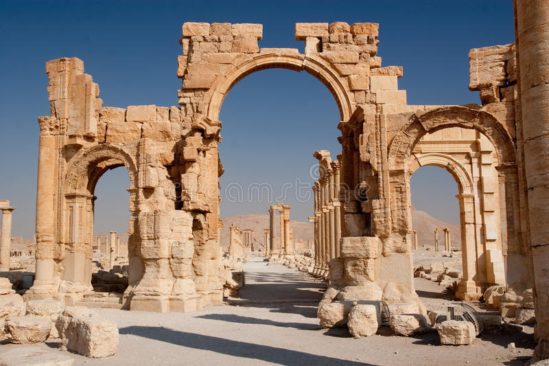 Ruinas del Palmyra fotografía de archivo
