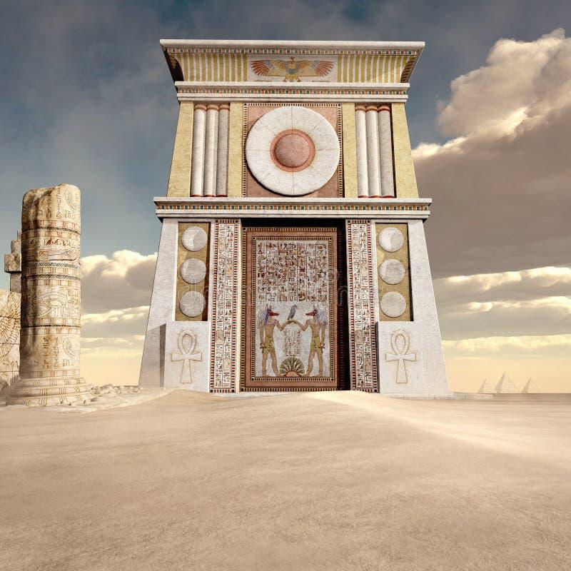 Ruinas del templo antiguo ilustración del vector