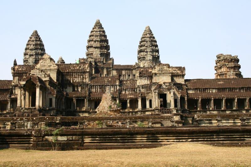 Ruinas del templo de Angkor Wat imágenes de archivo libres de regalías