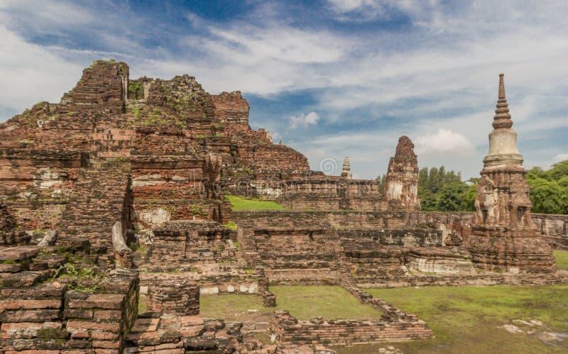Ruinas en Ayutthaya, Tailandia imagenes de archivo