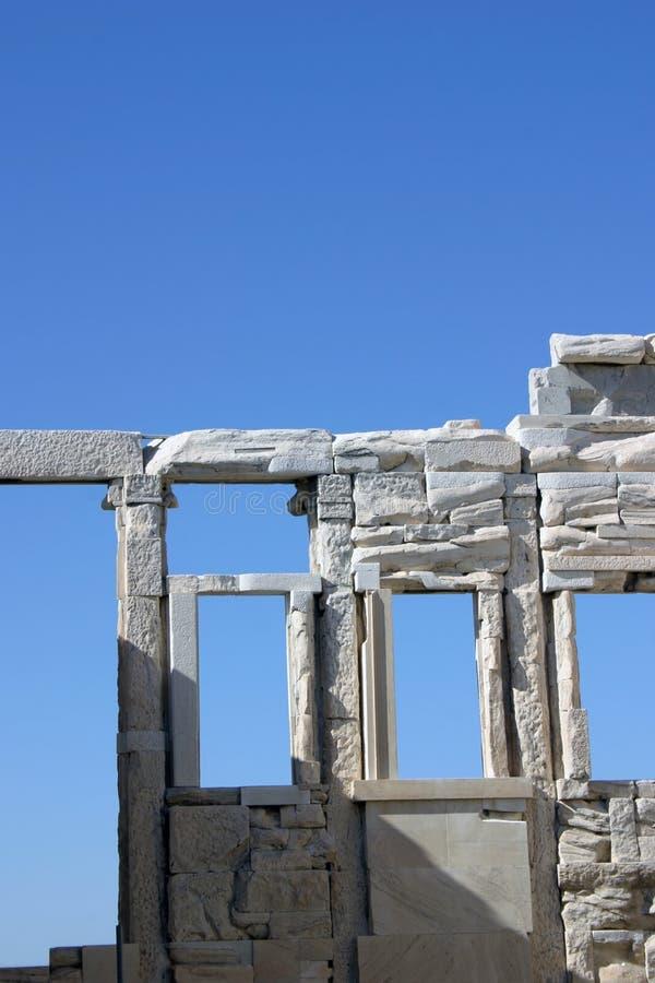 Ruinas en azul fotos de archivo