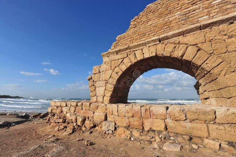Ruinas en Caesarea Israel imagen de archivo libre de regalías