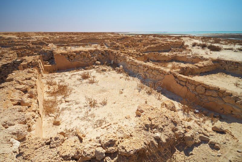 Ruinas en desierto fotos de archivo
