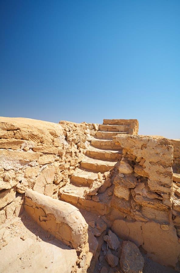Ruinas en desierto imagen de archivo libre de regalías