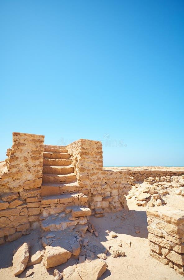 Ruinas en desierto foto de archivo