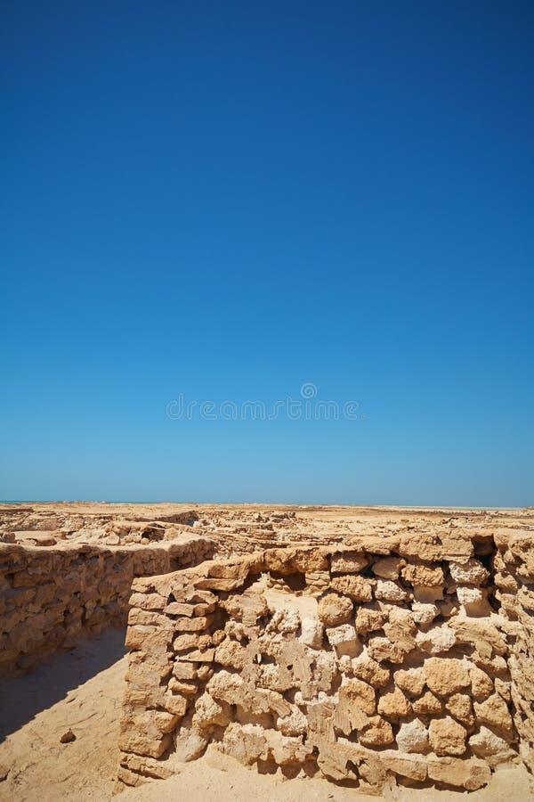 Ruinas en desierto fotografía de archivo