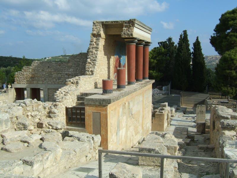 Ruinas en el laberinto de Minotaur fotografía de archivo
