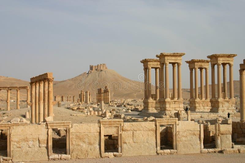 Ruinas en el Palmyra foto de archivo libre de regalías