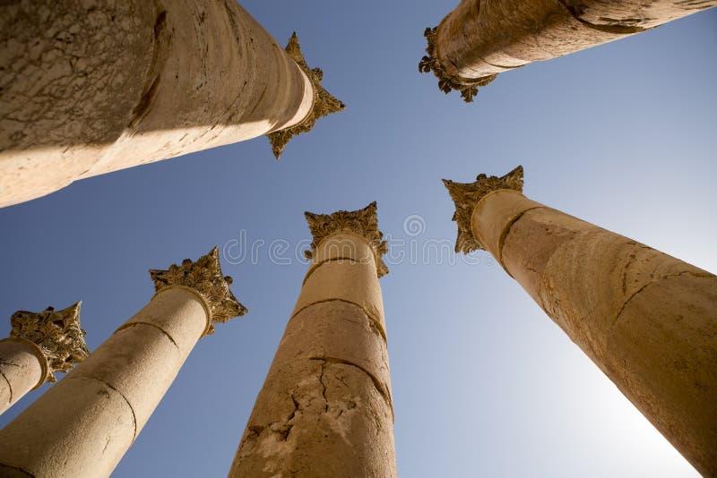Ruinas en Jerash, Jordania imágenes de archivo libres de regalías