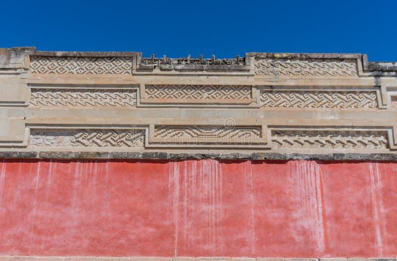 Ruinas en Mitla cerca de la ciudad de Oaxaca Centro de la cultura de Zapotec en México foto de archivo libre de regalías