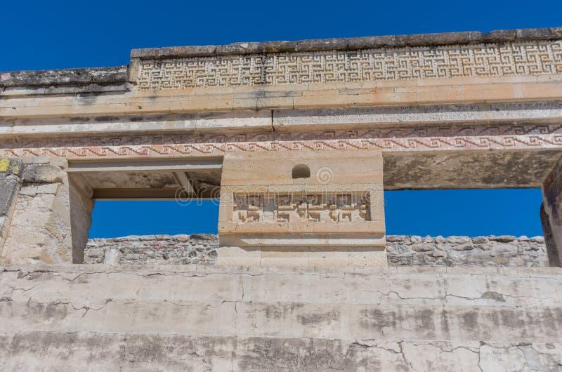 Ruinas en Mitla cerca de la ciudad de Oaxaca Centro de la cultura de Zapotec en México imagen de archivo
