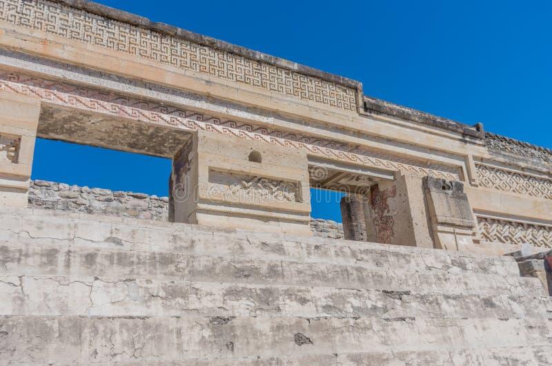 Ruinas en Mitla cerca de la ciudad de Oaxaca Centro de la cultura de Zapotec en México imagenes de archivo