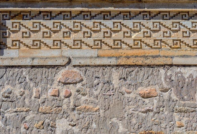Ruinas en Mitla cerca de la ciudad de Oaxaca Centro de la cultura de Zapotec en Mexic imagen de archivo libre de regalías
