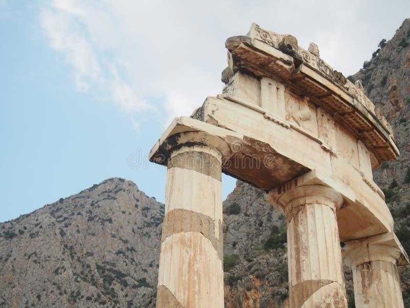 Ruinas en Oracle de Delphi foto de archivo libre de regalías