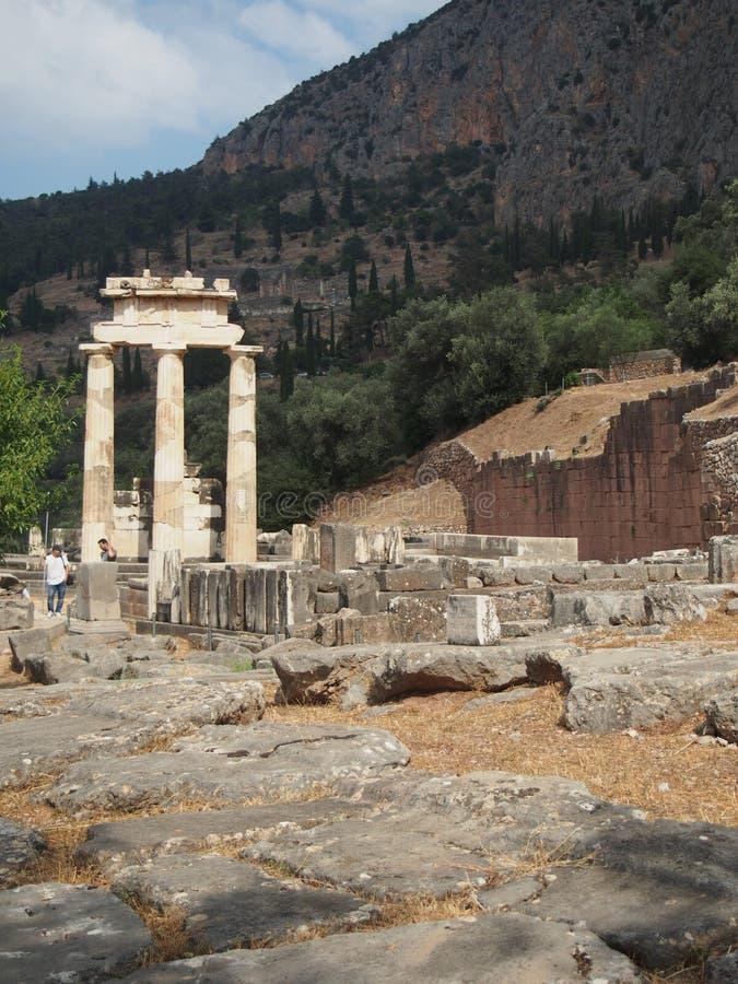 Ruinas en Oracle de Delphi fotografía de archivo