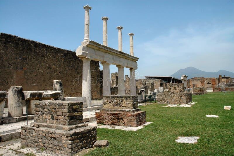Ruinas en Pompeii, Italia imágenes de archivo libres de regalías