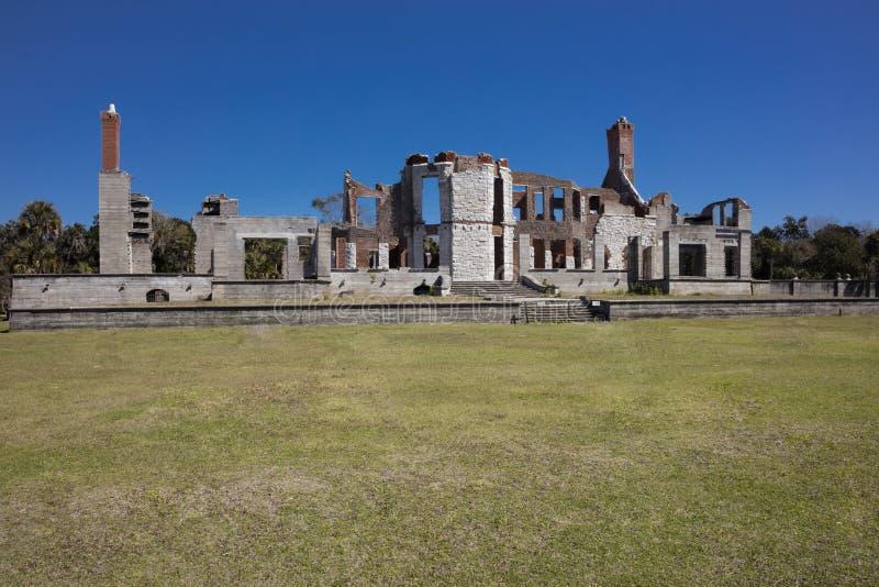 Ruinas históricas de Dungeness imagen de archivo libre de regalías