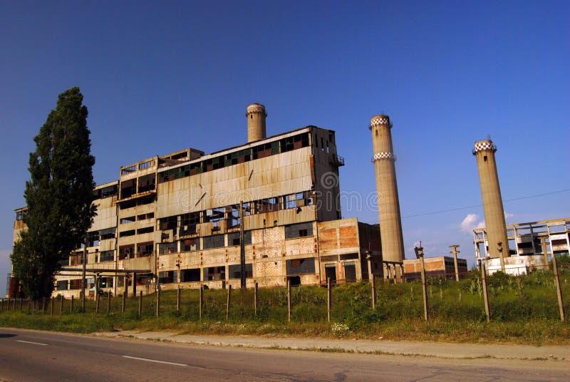 Ruinas industriales, cobine de Oltenita fotografía de archivo