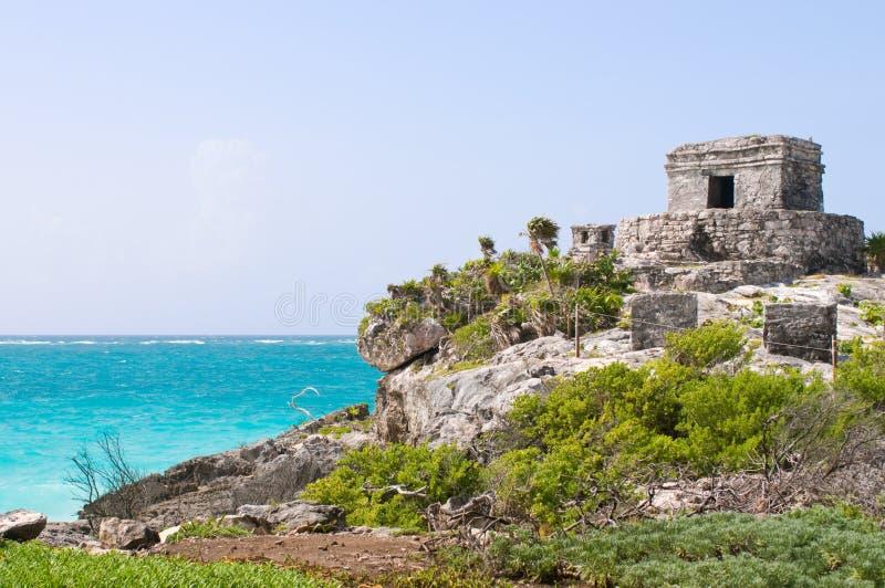 Ruinas mayas antiguas en Tulum, México fotografía de archivo libre de regalías