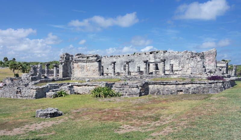 Ruinas mayas del templo en México fotos de archivo libres de regalías