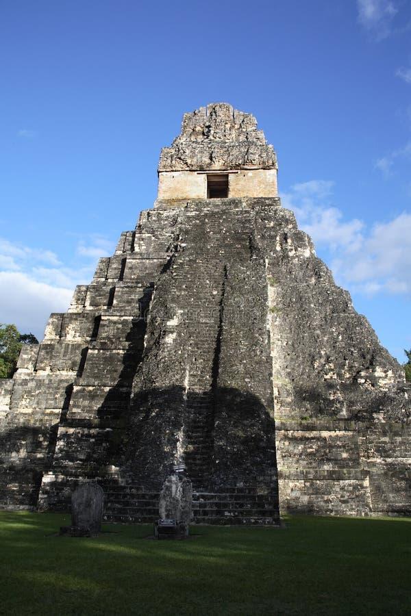 Ruinas mayas del templo II imagen de archivo libre de regalías