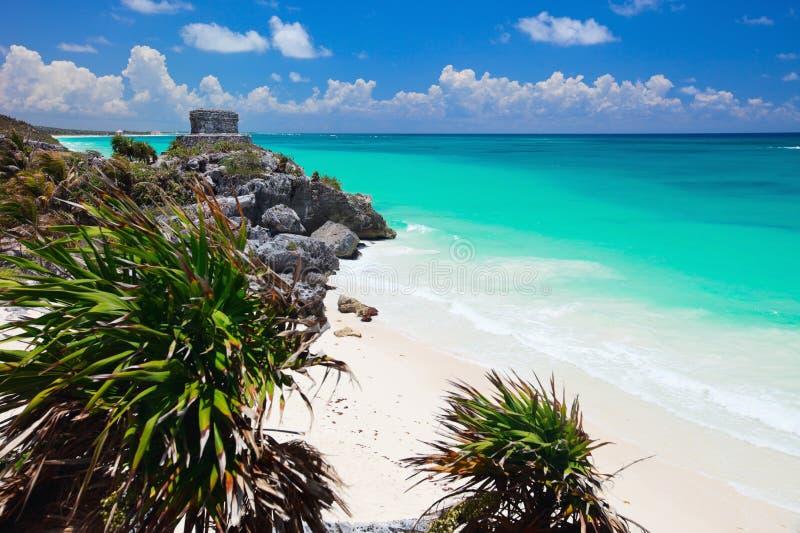 Ruinas mayas en Tulum imagen de archivo libre de regalías