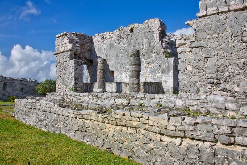 Ruinas mayas en Tulum fotografía de archivo