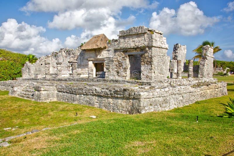 Ruinas mayas en Tulum imagen de archivo