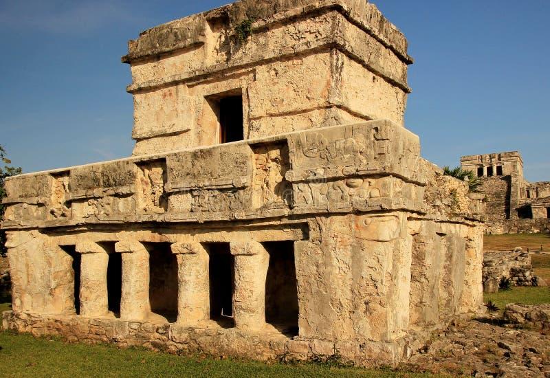 Ruinas mayas en Tulum, México foto de archivo