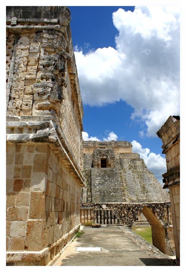 Ruinas mayas en Uxmal fotos de archivo libres de regalías
